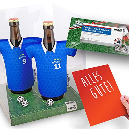 Alles für Rostock-Fans by Ligakakao.de Home-Trikot ist jetzt Mein TRIKOTKÜHLER Geschenk-Set (2X Trikots + 1 ZÄPFCHEN)
