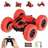 allcaca Voiture Télécommandée 2.4GHz 1:28 4WD Rotation à 360 Degrés avec Batterie Rechargeable pour Enfant, Rose