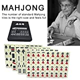 Blue-Yan Convenientes baldosas de Mahjong de Viaje de Grabado sólido, Traje de Mahjong Completo de Bolsillo de 2 cm de Gama Alta, Adecuado para Juegos de Fiesta Familiar de Entretenimiento de Viaje