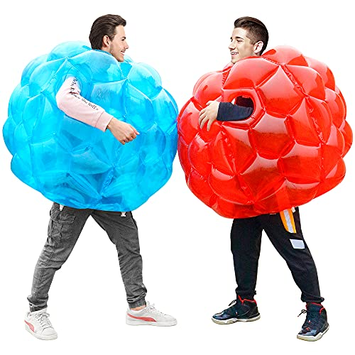 X XBEN Inflatable Buddy Bumper Balls 2pcs, Kids Soccer Ball Giant Human Hamster Knocker Ball Body Zorb Ball for Adults, Outdoor Team Gaming Play. 36inch