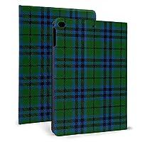 iPad mini4/mini5 7.9インチ ケース 手帳型 高級PUレザー オートスリープ機能 多角度調整 全面保護 (グリーンブルーチェック )