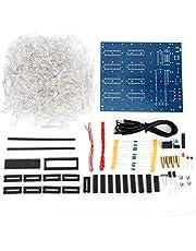 3D LED Cube DIY Kit, 8 x 8 x 8 cm Cube 3D PCB LED Light DIY Kit Electronics Kit voor creatieve geschenken Handmatige elektronische montage Enthusiast