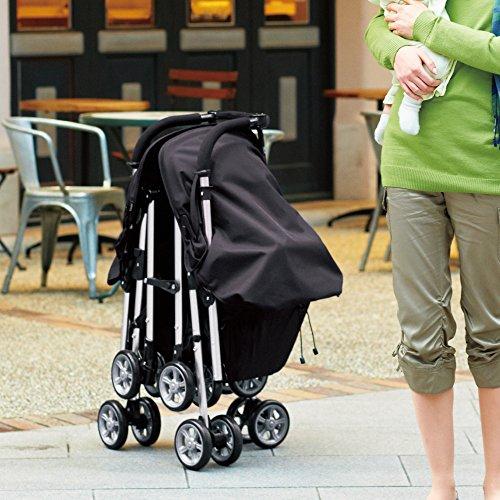 コンビCombiベビーカーTWINSPINツインスピンブラック(1ヶ月~36ヶ月頃対象)スムーズに押しやすい二人乗りベビーカーSG基準適合