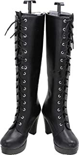 Whirl Cosplay Boots Shoes for League of Legends Katarina Du Couteau Black