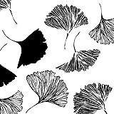 Tischdeko 20 Stück Serviette Cocktail Ginkgo schwarz weiß Baum