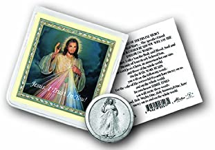 Divine Mercy Coin in Clear Folder with Prayer Blessed By Pope Francis
