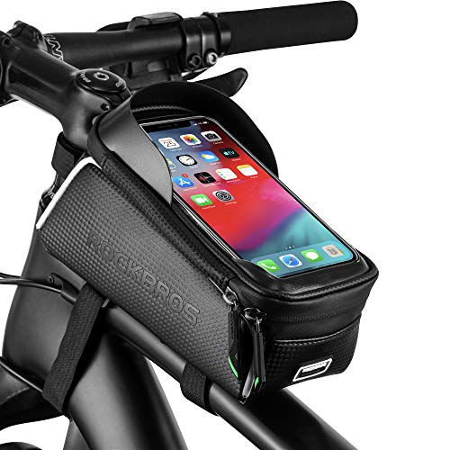 Save %9 Now! ROCKBROS Bike Phone Bag Bike Pouch Top Tube Bag Bicycle Front Frame Bag Waterproof Bike...