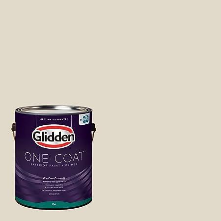 Amazon Com Glidden Exterior Paint Primer Greige Antique White One Coat Flat 1 Gallon Home Improvement