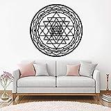 wZUN Calcomanía de Pared Mandala Etiqueta de la Pared Diseño de Vinilo Habitación Dormitorio Arte móvil Mural 33X33cm