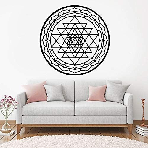 Fotobehang mandala sticker vinyl woondecoratie interieur kamer slaapkamer verwijderbare muurschildering 68.4x68.4cm