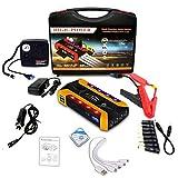 SXMY Arrancador de Coche 20000mAh Arrancador de Batería de Coche 12 V para 8.0L Gasolina o 7.5L Diesel con Luz LED con Bomba de Aire,001