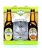 Coffret Bières + Verre : bières artisanales 2 x 33 cl + verre à bière