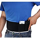 Neoprene Men/Women Belly Band Concealed Gun Pistol Holster Right/Left Hand For Glock 17,19,Ruger LCP and other comparable gun (left)