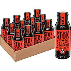 YOUR MORNING ENERGY IS WAITING: Enjoy SToK Not Too Sweet Black Cold-Brew Coffee straight up or with your favorite creamers BREWED LOW AND SLOW for at least 10 hours to achieve our smooth, bold, one-of-a-kind SToKness ARABICA-BASED BLEND, brewed with ...