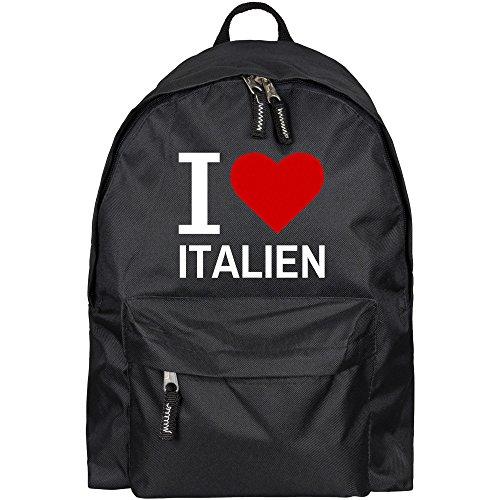 Rucksack Classic I Love Italien schwarz - Lustig Witzig Sprüche Party Tasche