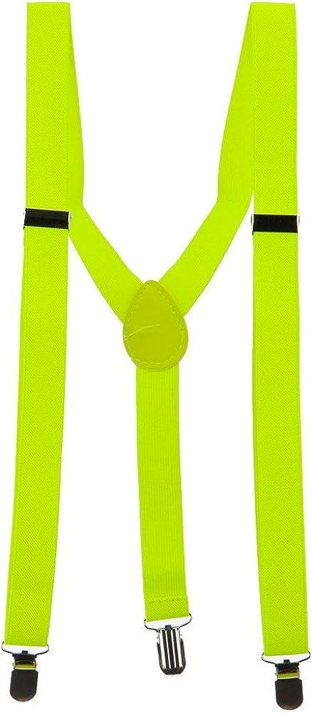 Fashion Suspender - Neon Yellow OSFM