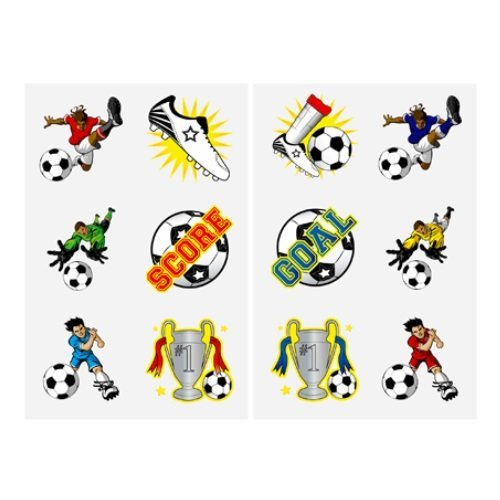 10 x Mini Fun Tattoos (Packs of 12) 120 in Total (FOOTBALL) by Henbrant