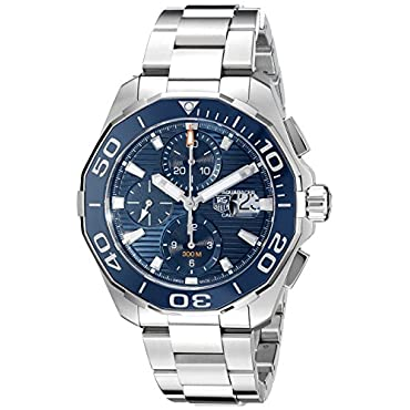 TAG Heuer Men's CAY211B.BA0927 Aquaracer Analog Display Swiss Automatic Silver Watch