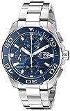 TAG Heuer Homme Bracelet & Boitier Acier Inoxydable Automatique Cadran Bleu Montre...