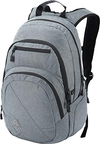 Nitro Stash Rucksack Schulrucksack Schoolbag Daypack Damenrucksack Schultasche schöne Rucksäcke Alltag Fahrradtasche, Black Noise, 29L