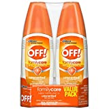 OFF! Family Care Insect & Mosquito Repellent, Unscented with Aloe-Vera, 7% Deet 6 oz, Value pack....