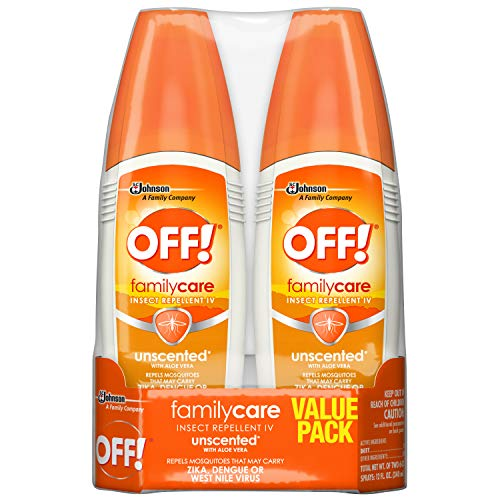 OFF! FamilyCare Bug Spray & Mosquito Repellent, Unscented, Non-Greasy, 6 oz (Pack of 2)