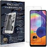 OnScreen Schutzfolie Panzerglas kompatibel mit Samsung Galaxy A31 Panzer-Glas-Folie = biegsames HYBRIDGLAS, Bildschirmschutzfolie, splitterfrei, MATT, Anti-Reflex - entspiegelnd