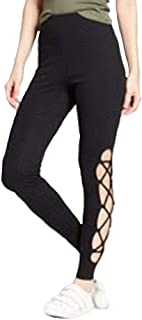 ce1735902a3175 Mossimo Supply Co Women's Higth Waisted Lace Up Leggings - Black -