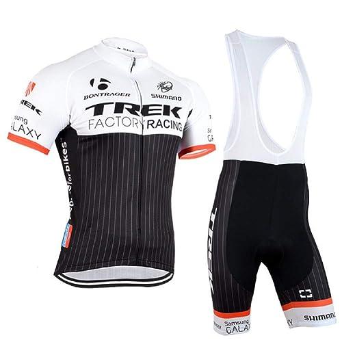 ETBO 2015 Trek Team Men s Short Sleeve Cycling Jersey and Bib Shorts Set 16f76aa4c