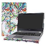 Alapmk Diseñado Especialmente La Funda Protectora de Cuero de PU para 15.6' Acer Aspire R15 R5-571T R5-571TG & Acer Swift 3 15 SF315-51G SF315-51 SF315-41 Series Ordenador portátil,Love Tree