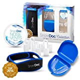 SnoreDoc™ Collection – Advanced Anti Snoring Solutions – Snore Stopper Chin Strap (Adjustable), Set of 4 Nose Vents, & Mouth Guard – 3 in 1 Sleep Aid Devices that Stop Snoring & Ease Breathing – Natur