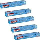 ALFAPAC - Papier Aluminium Gaufré 10M - Fabriqué en France - Lot de 5