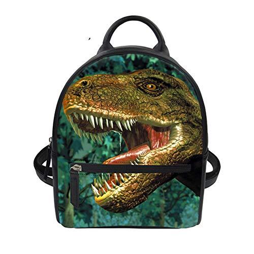 Fhdc Rugzak, coole haak/dinosaurus, bedrukt, modieus, dames, mini-rugzak, 3D, dier, school, meisjes, kleine rugzak, dagrugzak
