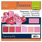 Vaessen Creative-Cartoncino Decorativo per Scrapbooking, Firenze-Tela, di Carta, Colore: Rosa, 216 g, 12 x 12 cm
