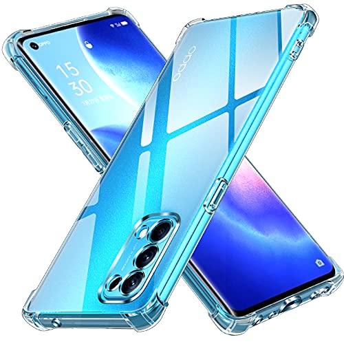 ivoler Hülle für Oppo Find X3 Lite mit Stoßfest Schutzecken, Ultra Dünne Weiche Transparent Schutzhülle Flexible TPU Durchsichtige Handyhülle Kratzfest Hülle Cover