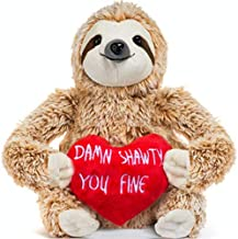 Light Autumn Valentines Day Stuffed Animals - Girlfriend Gifts - Valentine Sloth Bear for Her - Cute Funny Vday Gifts for Boyfriend
