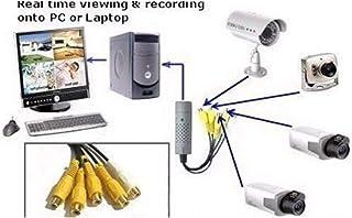 szkn USB to AV Adaptor Universal Audio Video Converter Multi-Functional Surveillance Video Capture Card Yellow