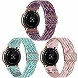 SSEIHI 22mm 3pack Correa Compatible con Samsung Galaxy Watch 3(45mm/44mm)/Watch 46mm/Gear S3 Classic/Frontier/Huawei GT2,Reloj de Deporte Strap,Nylon Banda,SmokeyMauve/MarineGreen/RosePink,22mm