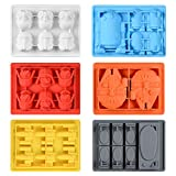 One!Cake Decorating Moulds Silicone Molds for Baking Chocolate Candy Gummy Dessert Ice Cube Molds for Star War Fans (Random gules)