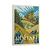 HUAIREN Rohan See Mittelerde LOTR-Poster – Retro Vintage
