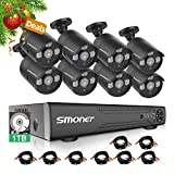 SMONET 16 Channel Security Camera System,5-in-1 5MP Security