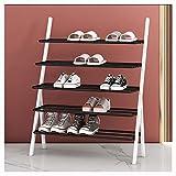 Zapatera Zapatero de 5 niveles, organizador de almacenamiento de zapatos de metal, estantes de pie para zapatos para el pasillo de entrada de la sala de estar Zapatero ( Color : D , tamaño : 60cm )