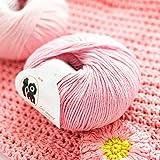 Hilo de tejer doble de 12 colores, hilo de algodón de fibra larga universal para adultos y niños para suéteres, sombreros, bufandas, bricolaje