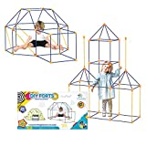 DIY Forts Steckstabbaukasten, Play Tent, Spielzelt, XXL Kantenmodell, Konstruktionsspiel, Bauspiel (210 Teile) (210 Teile)