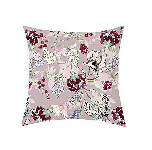 Qushion Housse pour Coussin imprimé Floral Housse de Coussin carré en Satin pour intérieur Montana Jeté pour canapé pour extérieur – Pêche, 12 x 12 Pouces 20x20 Pollici pêche