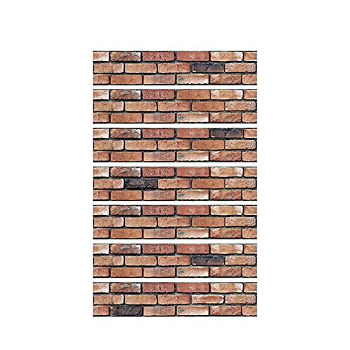 Ruspela Pegatinas de pared 3D para pelar y pegar ladrillos, impermeables, autoadhesivas, para pared, piso, escaleras, para baño, cocina, 7 hojas