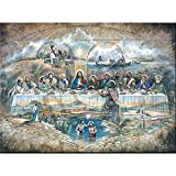 5d diamante bordado Jesús Última Cena pintura de diamante religioso taladro redondo mosaico arte de ...