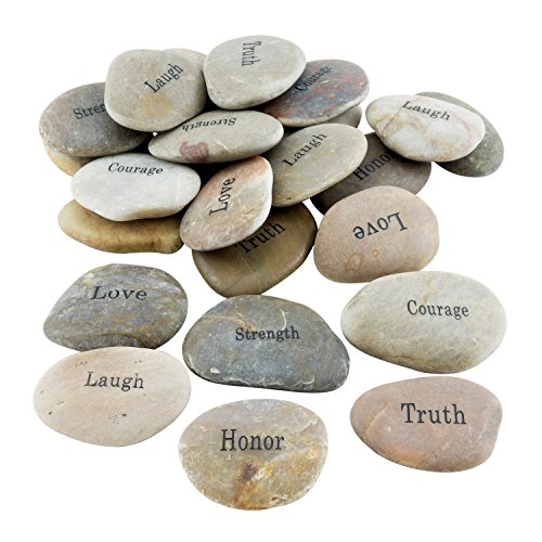 Stonebriar 25pc Inspirational Stones, Gifts for Friends & Family, Bulk Set