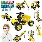 STEM Bauspielzeug, 8 in 1 Bausteine Konstruktion Spielzeug für 5 6 7 8 9 10+ Jahre alte Jungen & Mädchen,100 Stück Kreatives Pädagogische Spielzeug Weinachtsgeschenk Geburtstagsgeschenke für Kinder