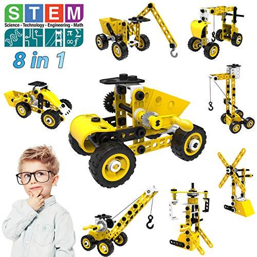 STEM Bauspielzeug, 8 in 1 Bausteine Konstruktion Spielzeug für 5 6 7 8 9 10+ Jahre alte Jungen & Mädchen,100...